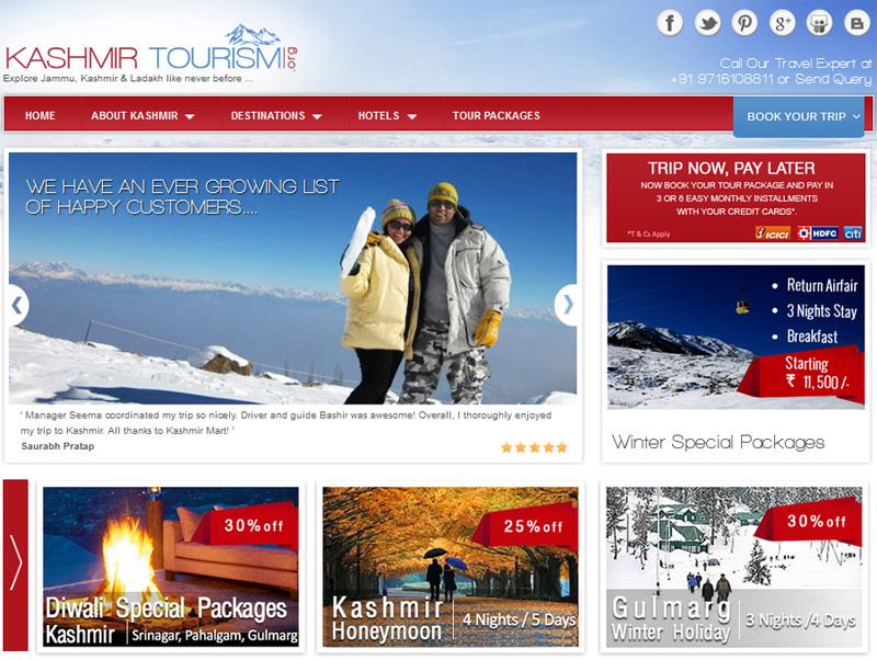 Revamped Design of Kashmir Tourism
