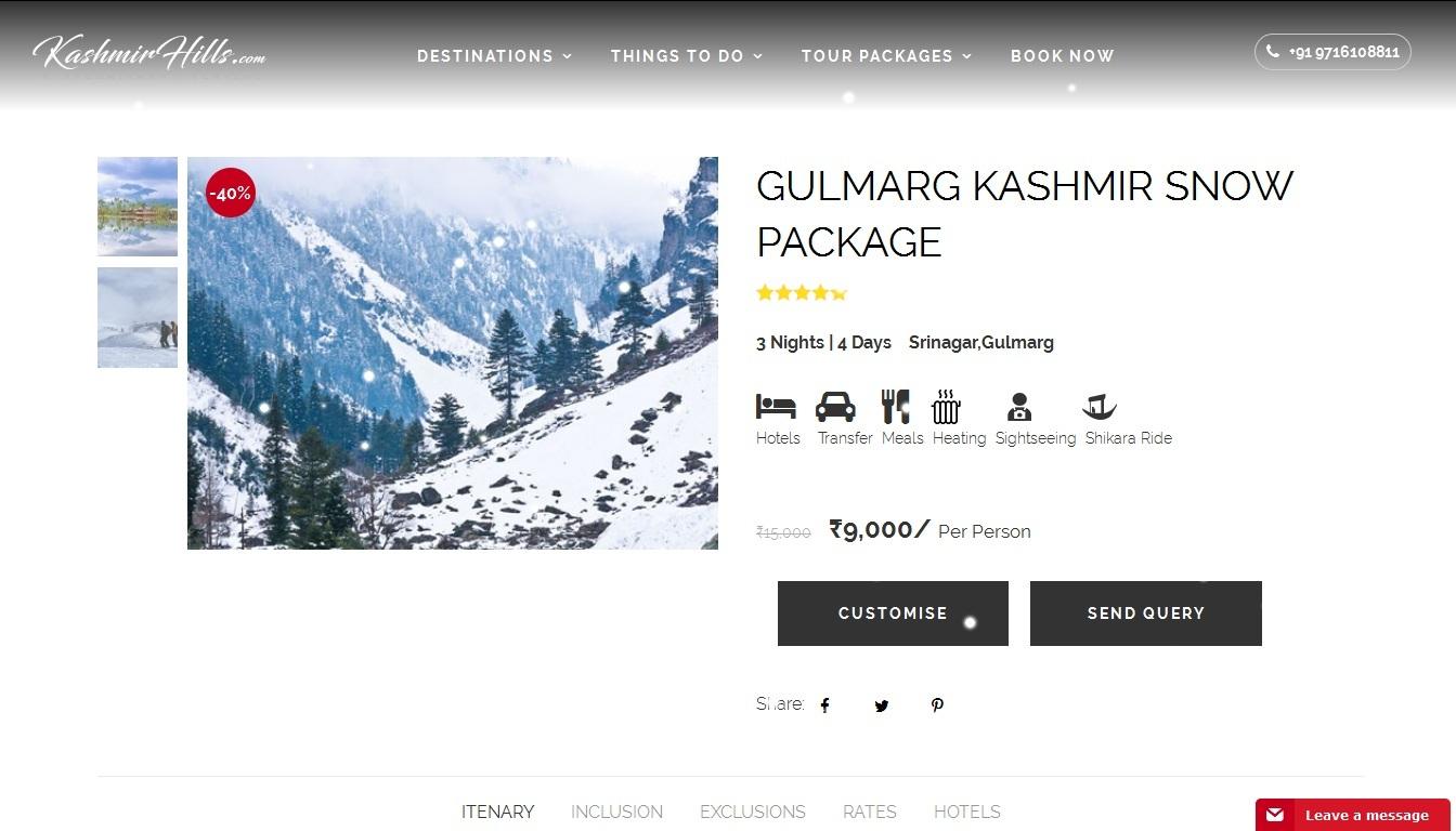 Kashmir Hills Tour Packages